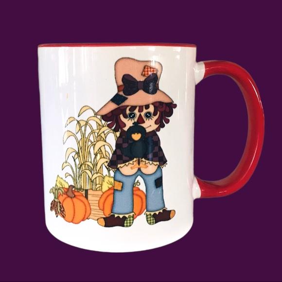 VTG Scarecrow Pumpkin Fall Halloween Coffee Mug